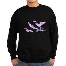 I am Divergent Pnk 4 Drk Sweatshirt