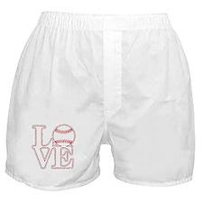 Love Baseball Classic Boxer Shorts