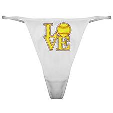 LOVE SOFTBALL STITCH Print Classic Thong