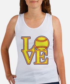 LOVE SOFTBALL STITCH Print Tank Top