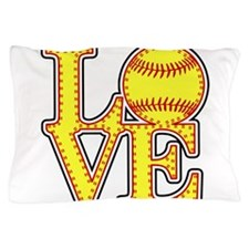 LOVE SOFTBALL STITCH Print Pillow Case