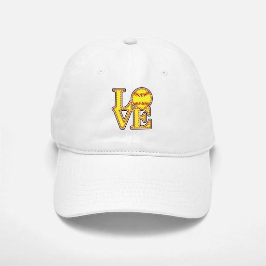LOVE SOFTBALL STITCH Print Baseball Baseball Cap