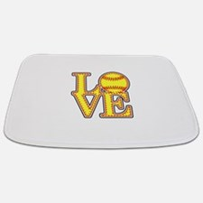 LOVE SOFTBALL STITCH Print Bathmat