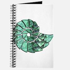 Green Stone Nautilus Shell Journal