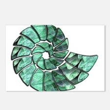 Green Stone Nautilus Shel Postcards (Package of 8)