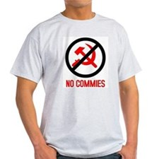 No Commies! Ash Grey T-Shirt