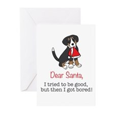 Dear Santa, I tried to be good! Greeting Cards