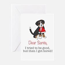 Dear Santa, I tried to be good! Greeting Cards