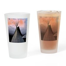 Stormy Teepee C - Drinking Glass