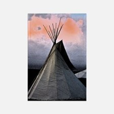 Stormy Teepee C - Rectangle Magnet