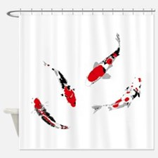 Varicolored carps Shower Curtain
