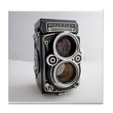 Vintage Camera Tile Coaster