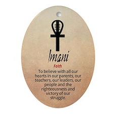 Imani Kwanzaa Ornament (oval)