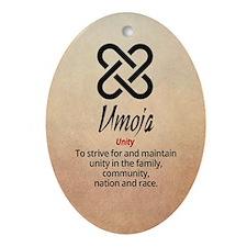 Umoja Kwanza Ornament (oval)