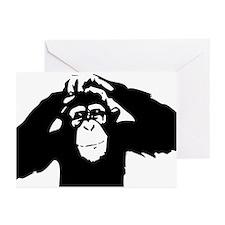 Chimpanzee Icon Greeting Cards (Pk of 10)