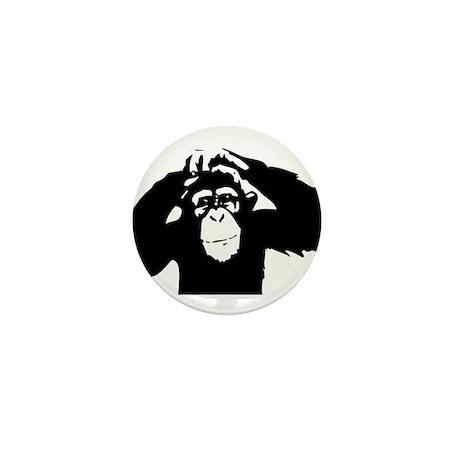 Chimpanzee Icon Mini Button