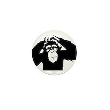 Chimpanzee Icon Mini Button (10 pack)