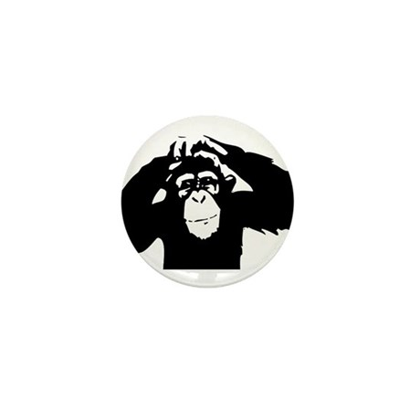 Chimpanzee Icon Mini Button (10 pack)
