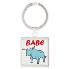 Cute Funny Square Keychain