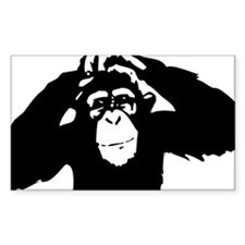 Chimpanzee Icon Rectangle Decal