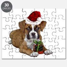 Christmas Boxer puppy Puzzle