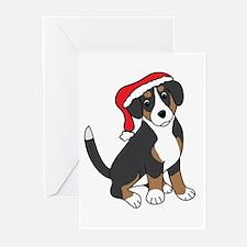 Santa Entlebucher Mountain Dog Greeting Cards