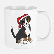 Santa Entlebucher Mountain Dog Mugs
