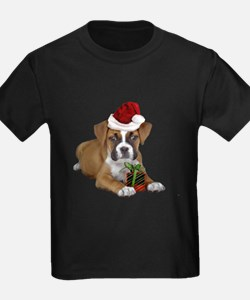 Christmas Boxer puppy T-Shirt