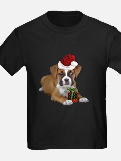 Christmas Boxer puppy T-Shirt