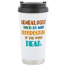Cute Genealogist Travel Mug