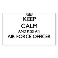 Keep calm and kiss an Air Force Officer Decal