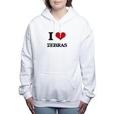 I love Zebras Women's Hooded Sweatshirt