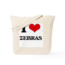 I love Zebras Tote Bag