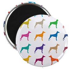 Colorful Dobermans Magnets