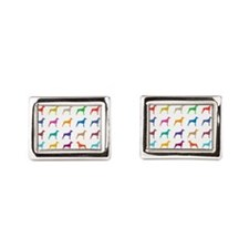 Colorful Dobermans Rectangular Cufflinks