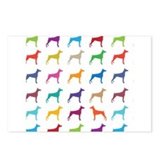 Colorful Dobermans Postcards (Package of 8)