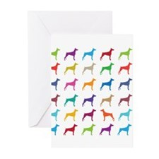 Colorful Dobermans Greeting Cards