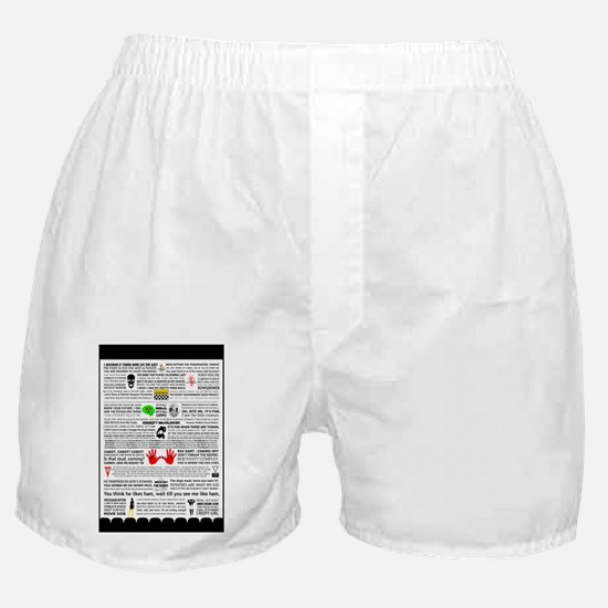 Quote Poster Boxer Shorts
