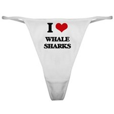 Cute Whale shark Classic Thong