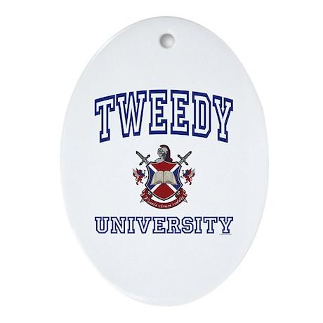 TWEEDY University Oval Ornament