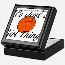 basketball Girl Thing.png Keepsake Box