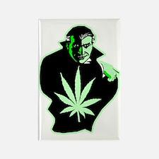 Halloween Weed Leaf Dracula Rectangle Magnet