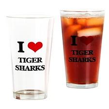 I love Tiger Sharks Drinking Glass