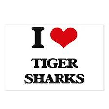 I love Tiger Sharks Postcards (Package of 8)