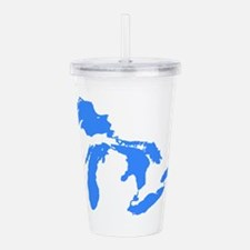 Great Lakes Only Blue3 Acrylic Double-wall Tumbler