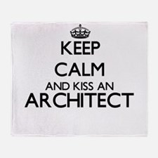 Keep calm and kiss an Architect Throw Blanket