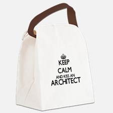 Keep calm and kiss an Architect Canvas Lunch Bag