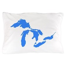 Great Lakes Only Blue3.png Pillow Case