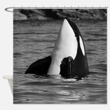 Unique I love orcas Shower Curtain