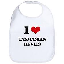 I love Tasmanian Devils Bib
